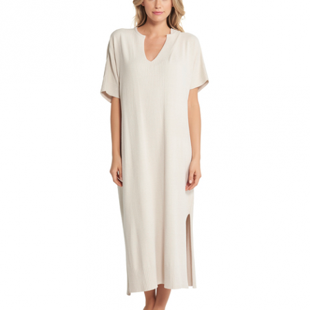 Barefoot Dreams Cozychic Ultra Lite Caftan Sand Dune